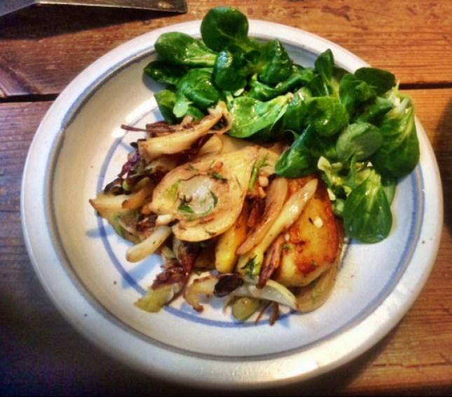 20.2.16 - Fenchel,Zwiebel,Kartoffel,Salat,vegan, (1)