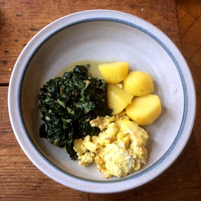 24.3.16 - Spinat,Rührei,Kartoffel,vegetarisch (6)
