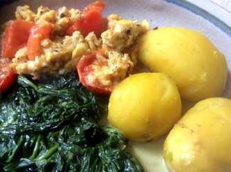 26.4.16 - Spinat,Rührei,Kartoffeln,vegetarisch (17)