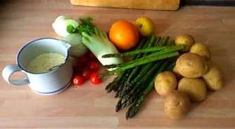 29.4.16 - Kartoffelgratin,grüner Spargel,Fenchelsalat (4)