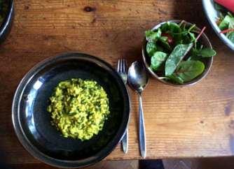 6.4.16 - Spinat Risotto,Salat,vegetarisch (19)