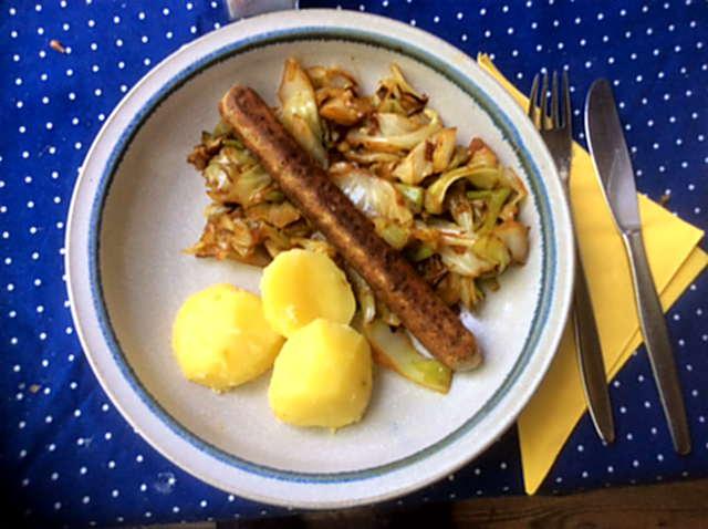 10.5.16 - Spitzkohl,Kartoffel,Veggie Würste (1)