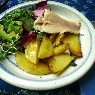 6.6.16 - Zitronenkartoffeln,Forelle,Salat (16)