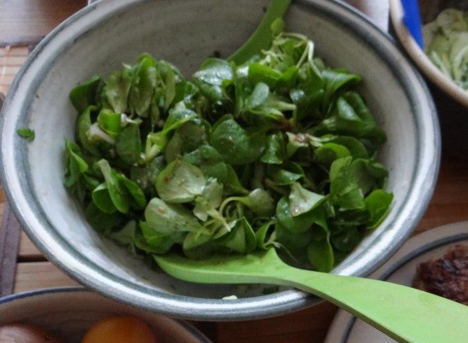 Frikadelle,Champignon,Gurkensalat,Feldsalat,Erdbeeren (13)