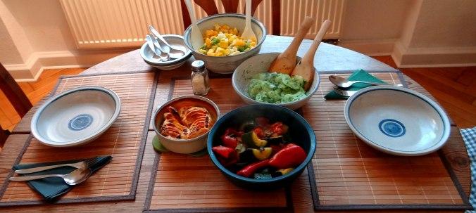 Ratatouille grob,Süßkartoffel Gratin,Obstsalat (3)