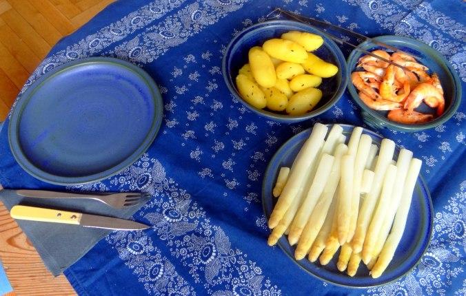 Spargel,Garnelen,Neue Kartoffeln,vegetarisch (3)
