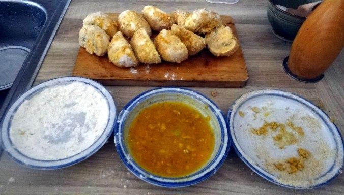 Fritierte Portobello,Bratkartoffeln,Pimientos,Salat,vegan (8)