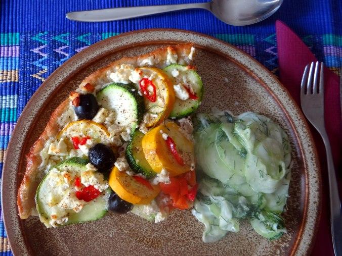 Zucchini Quiche,Quarkspeise, (2)