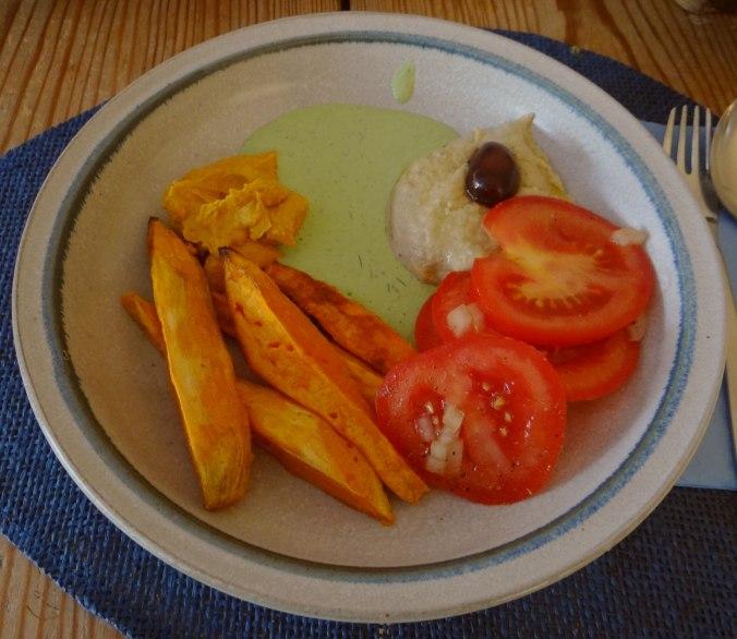 Orientalische Spezialitäten,Baba Ganoush,Süßkartoffel Pommes (1)
