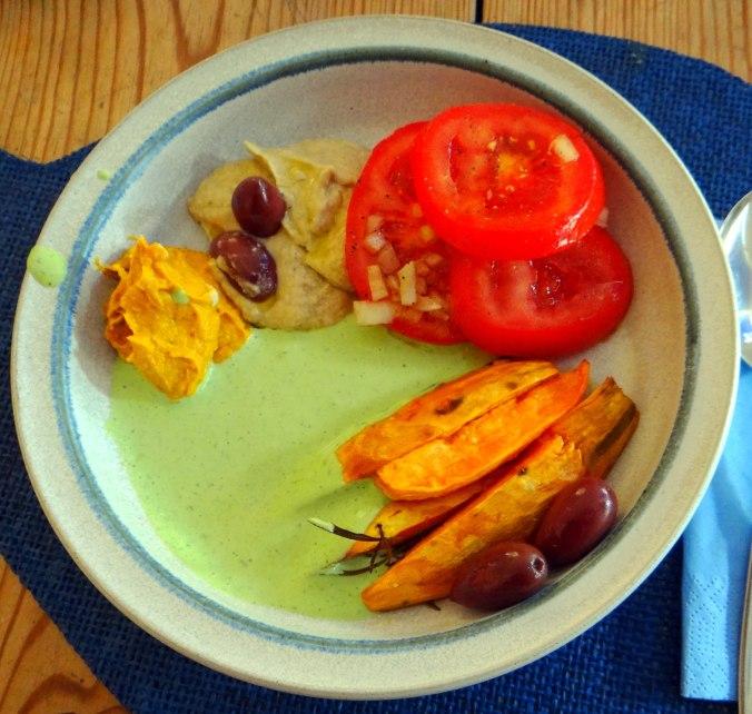Orientalische Spezialitäten,Baba Ganoush,Süßkartoffel Pommes (2)