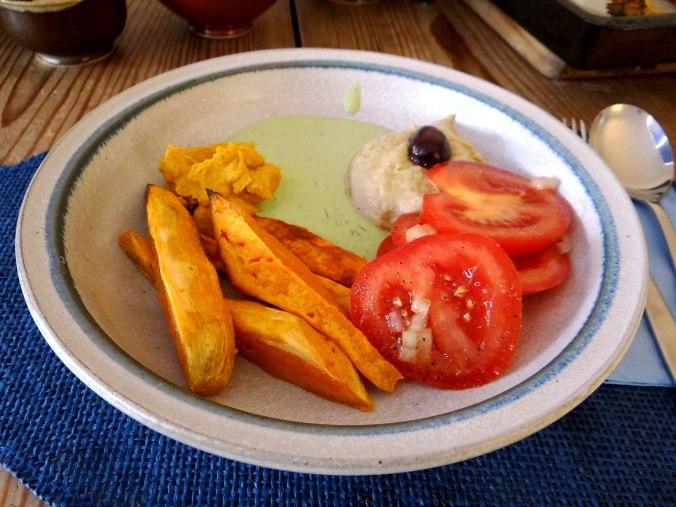 Orientalische Spezialitäten,Baba Ganoush,Süßkartoffel Pommes (20)
