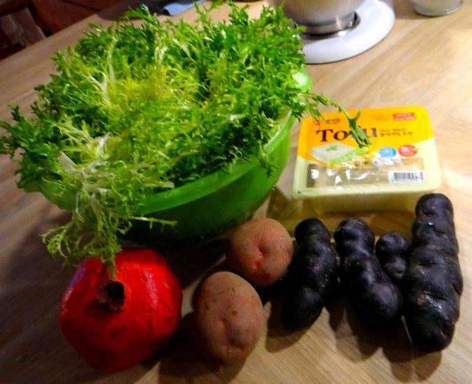 Seidentofu,Frisee Salat,Kartoffel Mix (4)