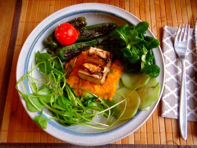 Kürbispüree,Tofu,Salate (1)