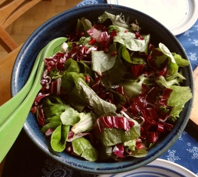 Perlhuhn,Kartoffel-Selleriestampf,Salat,Obstsalat (14z) (2)