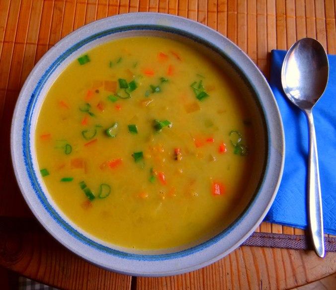 Gemüse-Linsen-Kokossuppe (1)