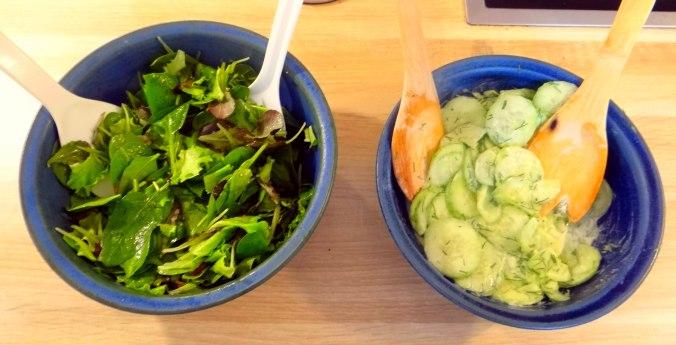 Hummus,Salate und Foccacia (15)