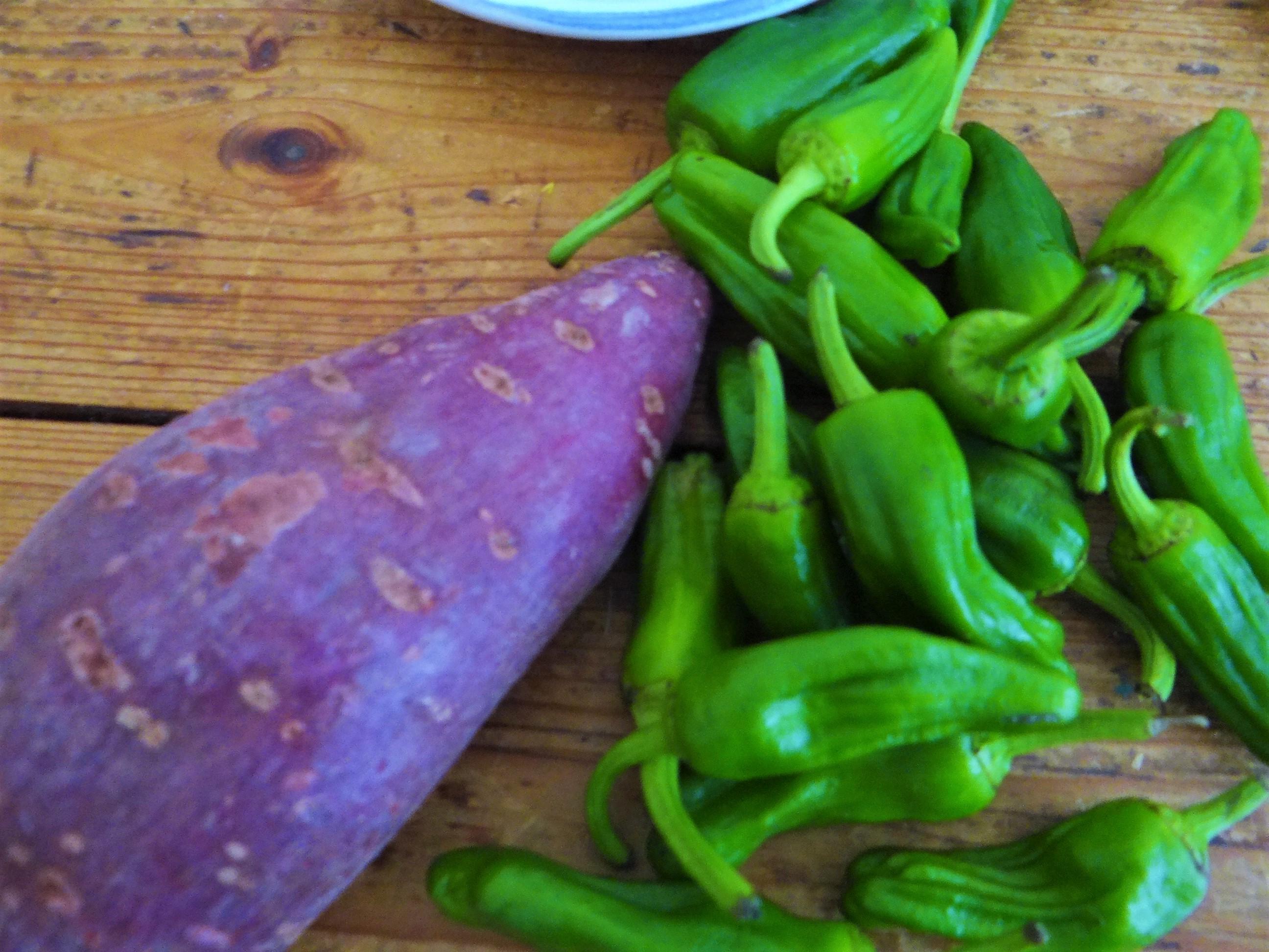 Zucchini Pfanne,Rohgebratene Kartoffeln,Pimientos,Obstsalat (7)