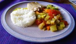 Seelachs auf Gemüsebett mit Kokos-Curry Sauce (13)