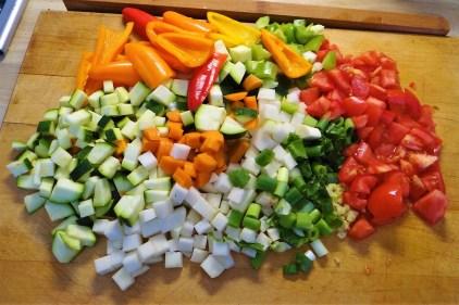 Seelachs auf Gemüsebett mit Kokos-Curry Sauce (7)
