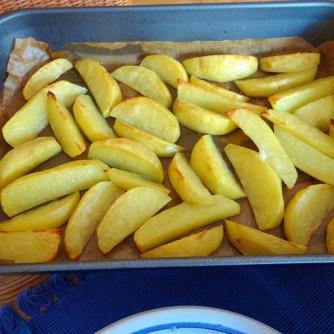 Cevapcici,Tzatziki,Kartoffelspalten,bunter Salat (10)