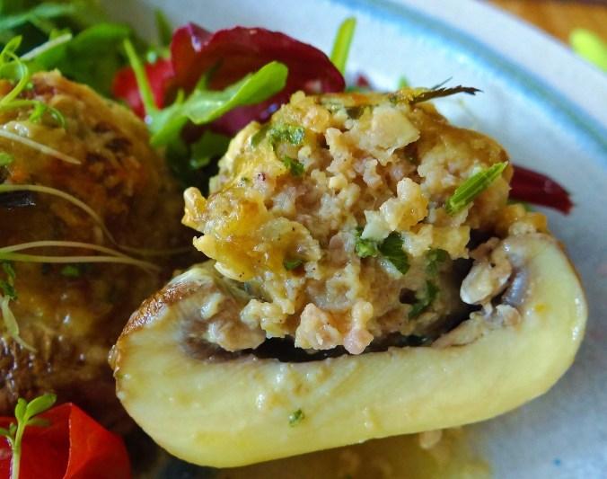 Gefüllte Portobello,Salat (4)