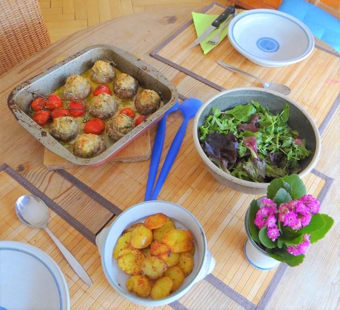 Gefüllte Portobello,Salat (5)