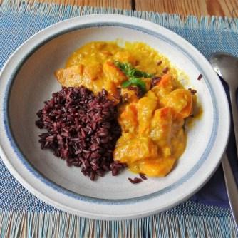 Kürbis Curry mit schwarzem Reis (13)