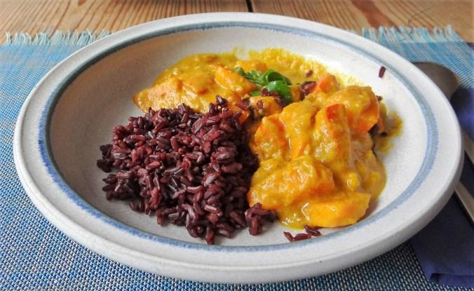 Kürbis Curry mit schwarzem Reis (2)