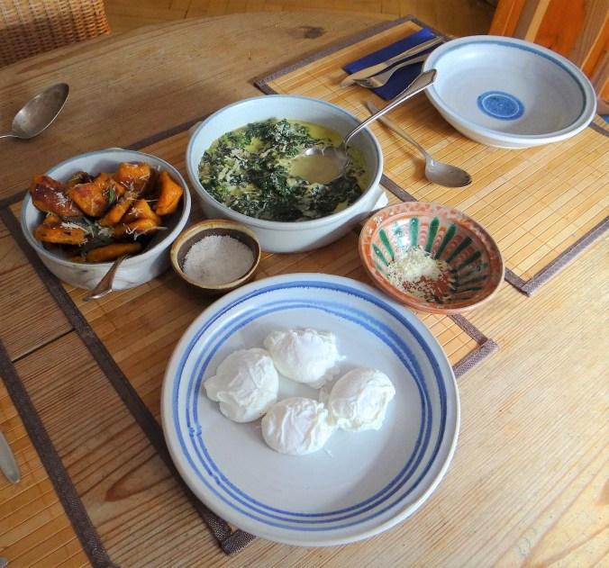 Spinat,pochiete Eier,Gnocchi (5)