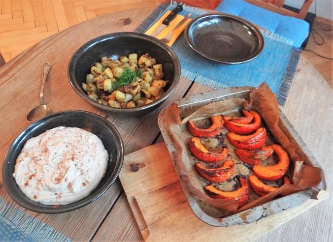 Kürbis,Hummus,Kartoffeln,Bacon (3)