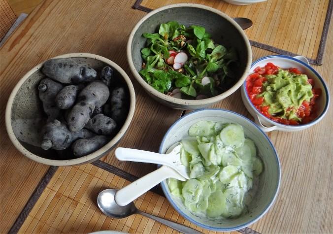 Lila Kartoffel,Guacamole,Salate (2)