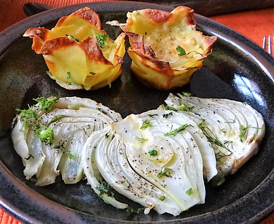 Fenchel und knusprige Kartoffelnester (15)