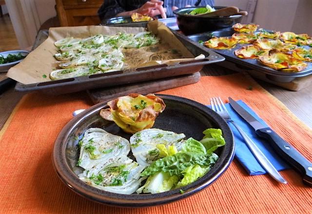 Fenchel und knusprige Kartoffelnester (5)