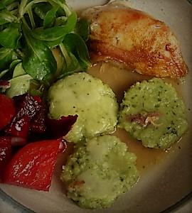 Hähnchen,Bärlauchtaler,Salate (3)