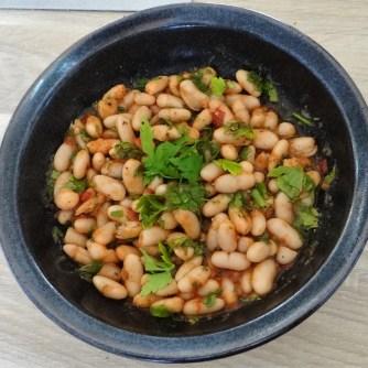 Topinambur-Kartoffelstampf,Petersilienpesto,Bohnensalat (17)