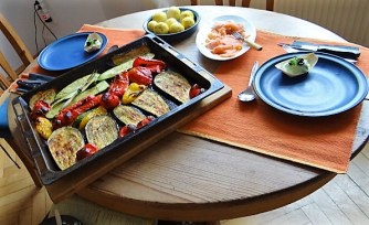 Ofengemüse,geräucherter Lachs,Bärlauch Dip (11)