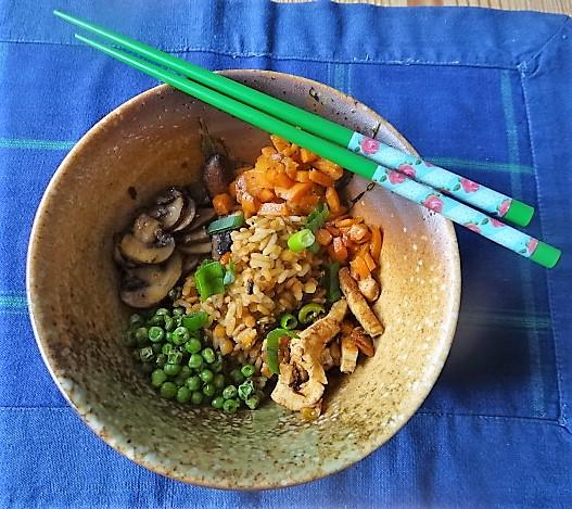 Reis mit Gemüse und Putenfleisch (3)