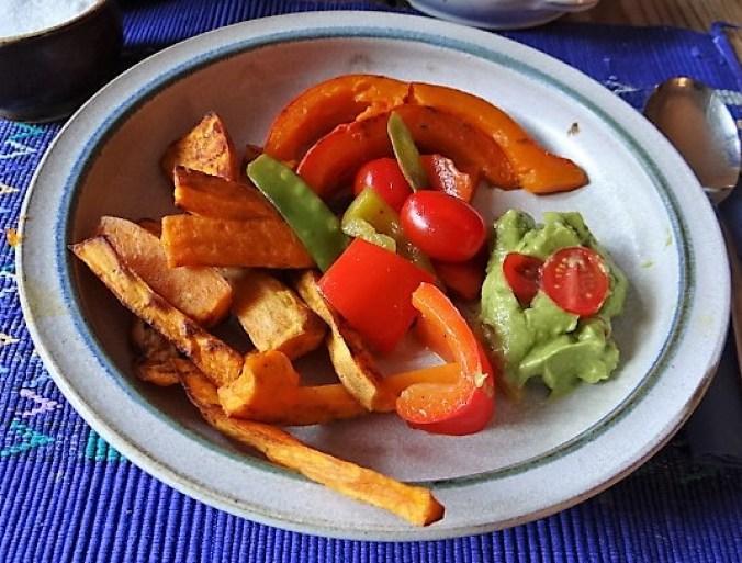 Süßkartoffeln,Kürbis,Guacamole (3)