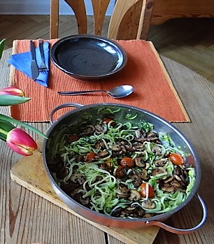 Zucchini Zoodles,Champignon,Tomaten (3)