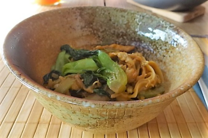 Asiatische Pfanne mit Pute und Enoki (2)
