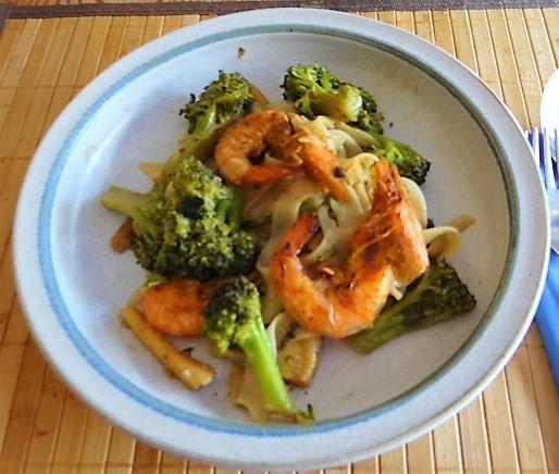 Brokkoli mit Garnelen (2)