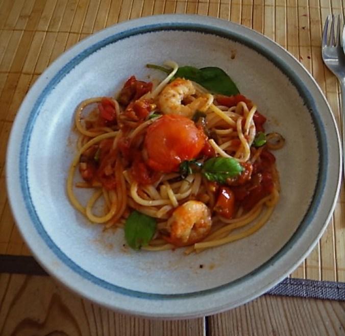 Garnelen mit Tomaten (1)