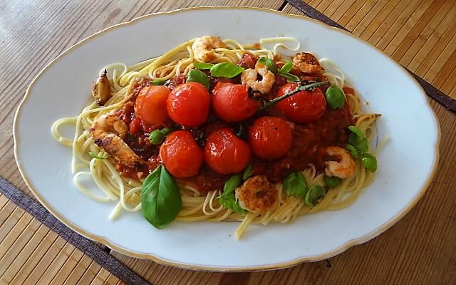 Garnelen mit Tomaten (3)