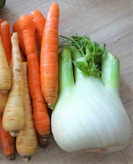 Ingwer Möhre,Pastinaken,gegrillter Fenchel,Orangensauce (7)