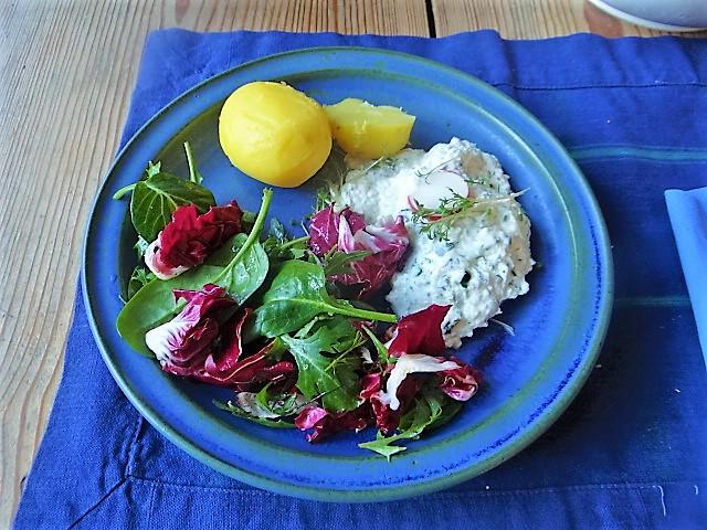 Quark,Kartoffeln,Salat (2)