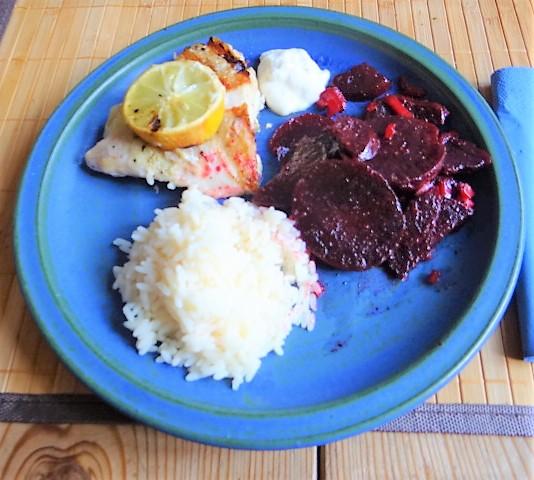 Rotbarsch,Reis,Rote Bete (2)