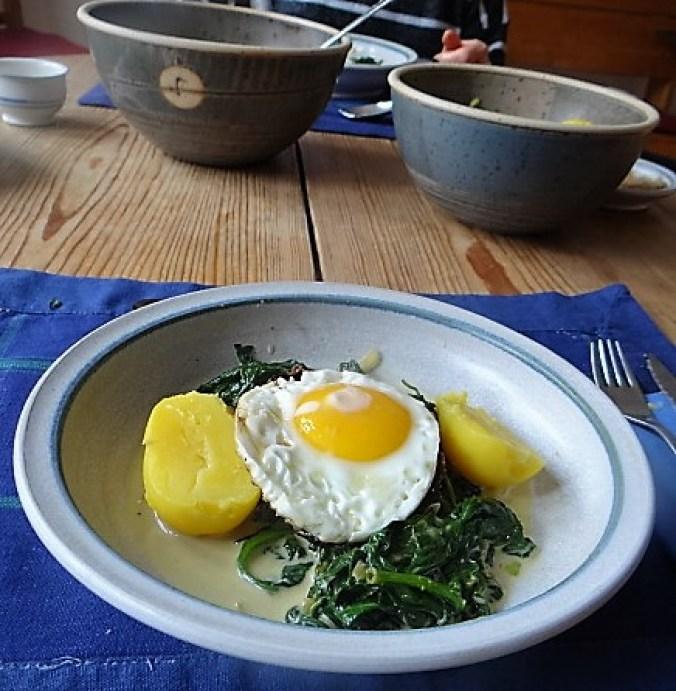 Spinat,Spiegelei,Kartoffeln (14)