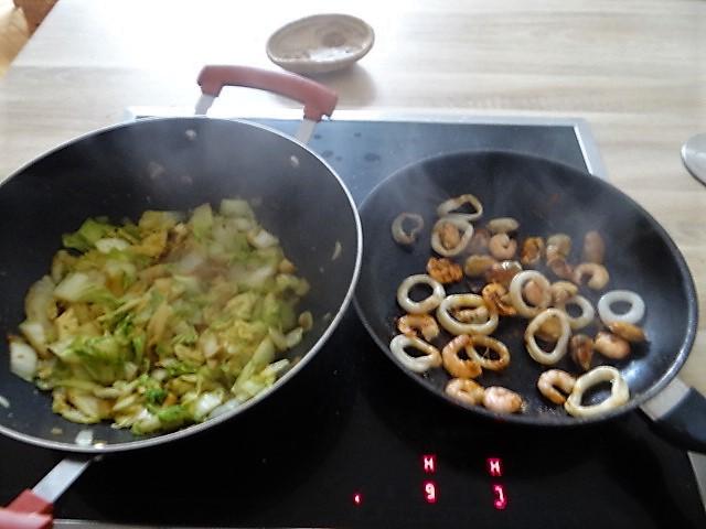 Spitzkohl mit Meeresfrüchten (6)