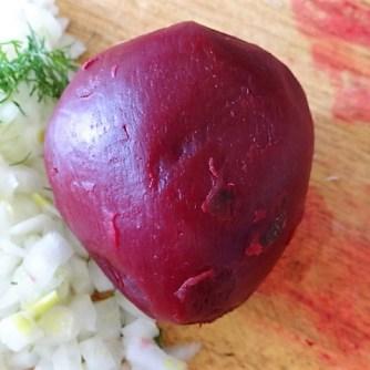 1Marinierter Hering,Rote Bete Salat, Bratkartoffeln (20)