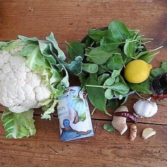 Blumenkohl Curry mit Blattspinat,Jasminreis (6)